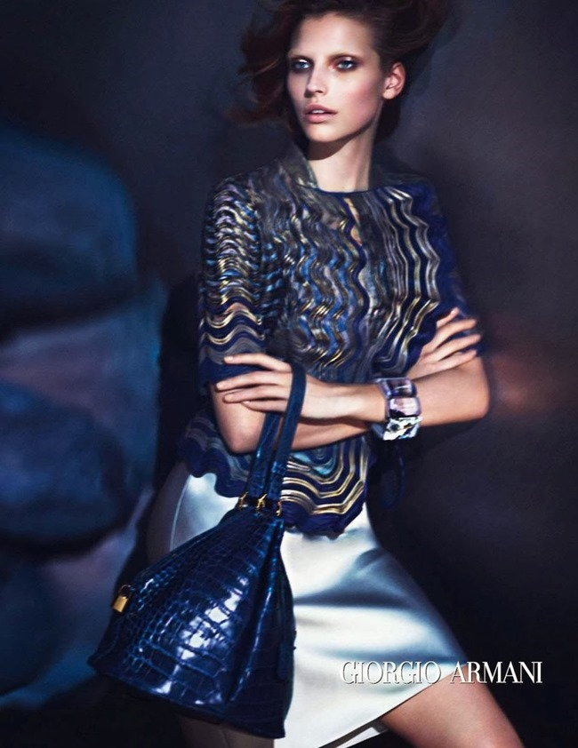 CAMPAIGN Karlina Caune for Giorgio Armani Spring 2014 by Mert & Marcus. www.imageamplified.com, Image Amplified (2)