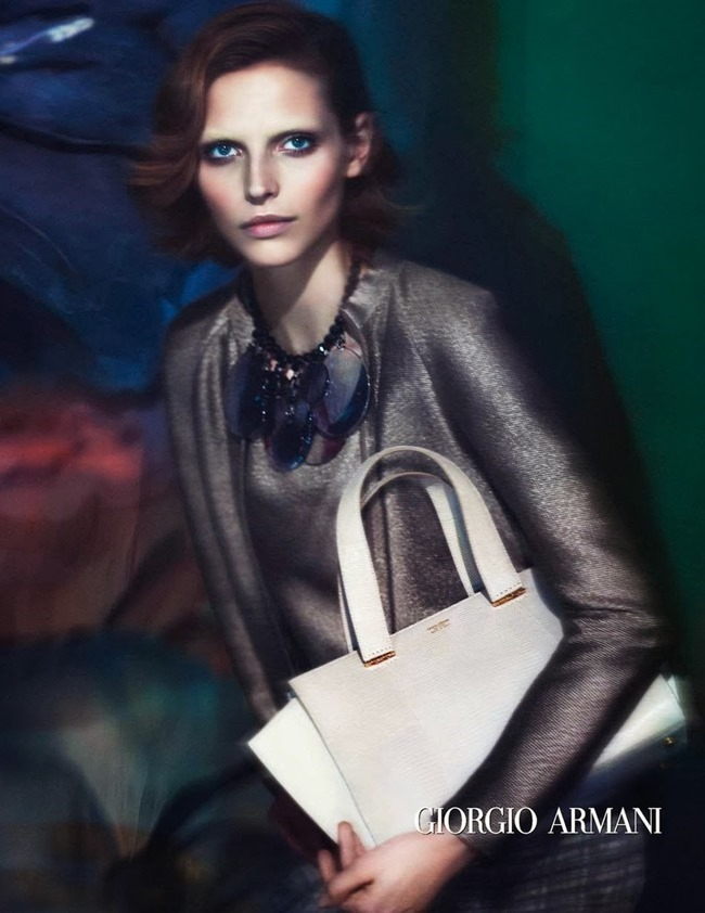 CAMPAIGN Karlina Caune for Giorgio Armani Spring 2014 by Mert & Marcus. www.imageamplified.com, Image Amplified (3)