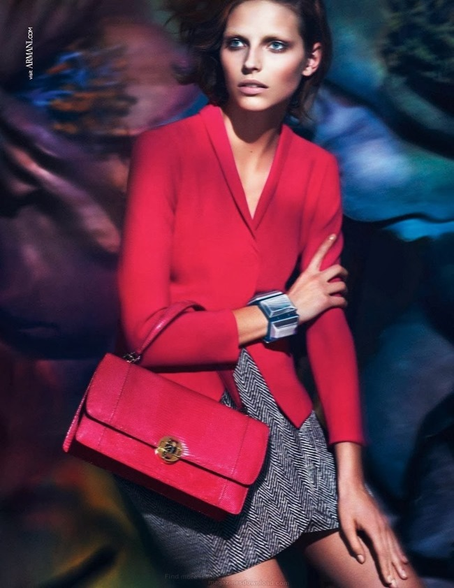 CAMPAIGN Karlina Caune for Giorgio Armani Spring 2014 by Mert & Marcus. www.imageamplified.com, Image Amplified (4)