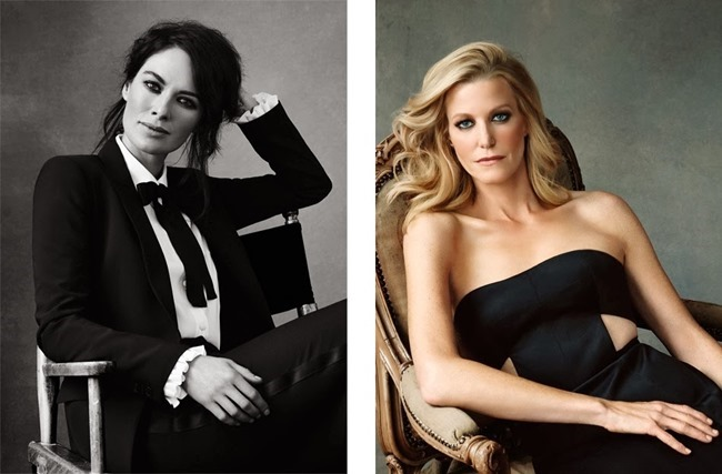 THE EDIT MAGAZINE Jessica Pare, Lena Headey, Morena Baccarin & Anna Gunn in Drama Queens by Bjorn Looss. Tracy Taylor, January 2014, www.imageamplified.com, Image Amplified (5)