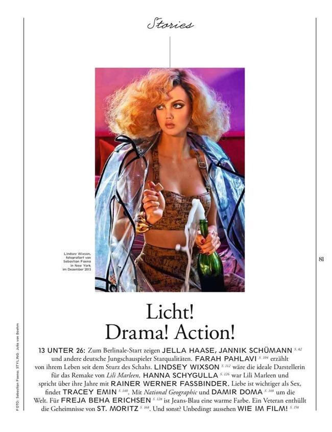 INTERVIEW GERMANY Lindsey Wixson & Jon Kortajarena in Licht! Drama! Action! by Sebastian Faena. Julia von Boehm, February 2014, www.imageamplified.com, Image Amplified (1)