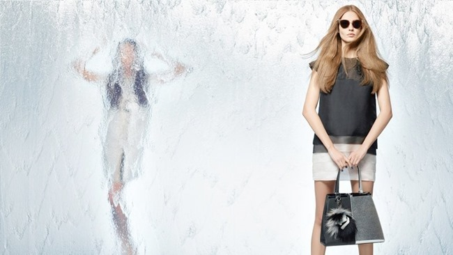CAMPAIGN Nadja Bender & Joan Smalls for Fendi Spring 2014 by Karl Lagerfeld. www.imageamplified.com, Image Amplified (11)