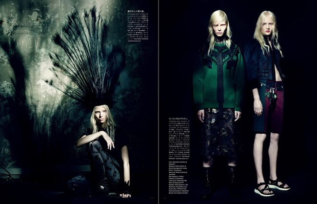 VOGUE JAPAN Maja Salamon, Ola Rudnicka & Sasha Luss in A Mystical Season by Paolo Roversi. Nicoletta Santoro, March 2014, www.imageamplified.com, Image Amplified (6)