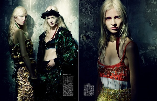 VOGUE JAPAN Maja Salamon, Ola Rudnicka & Sasha Luss in A Mystical Season by Paolo Roversi. Nicoletta Santoro, March 2014, www.imageamplified.com, Image Amplified (5)