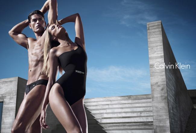 CAMPAIGN Edita Vilkeviciute & Tyson Ballou for Calvin Klein White Label Spring 2014 by Mario Sorrenti. George Cortina, www.imageamplified.com, Image Amplified (2)