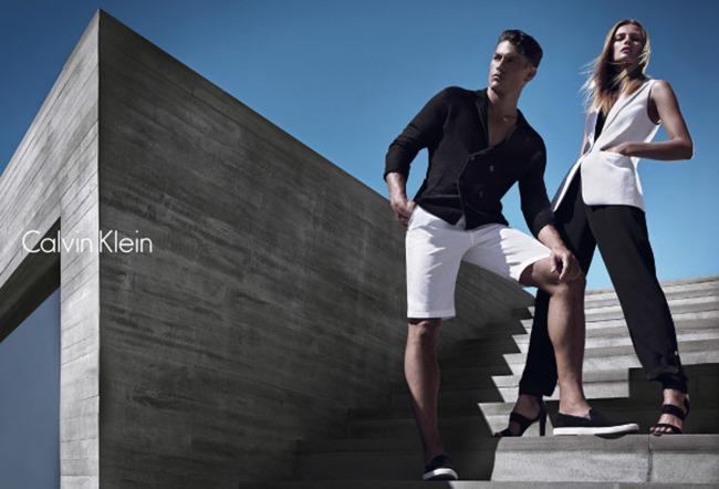 CAMPAIGN Edita Vilkeviciute & Tyson Ballou for Calvin Klein White Label Spring 2014 by Mario Sorrenti. George Cortina, www.imageamplified.com, Image Amplified (3)