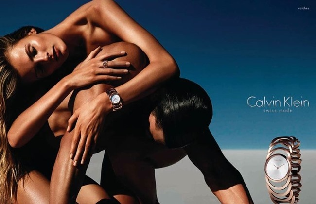CAMPAIGNEdita Vilkeviciute & Matthew Terry for Calvin Klein Watches Spring 2014 by Mario Sorrenti. www.imageamplified.com, Image Amplified (1)