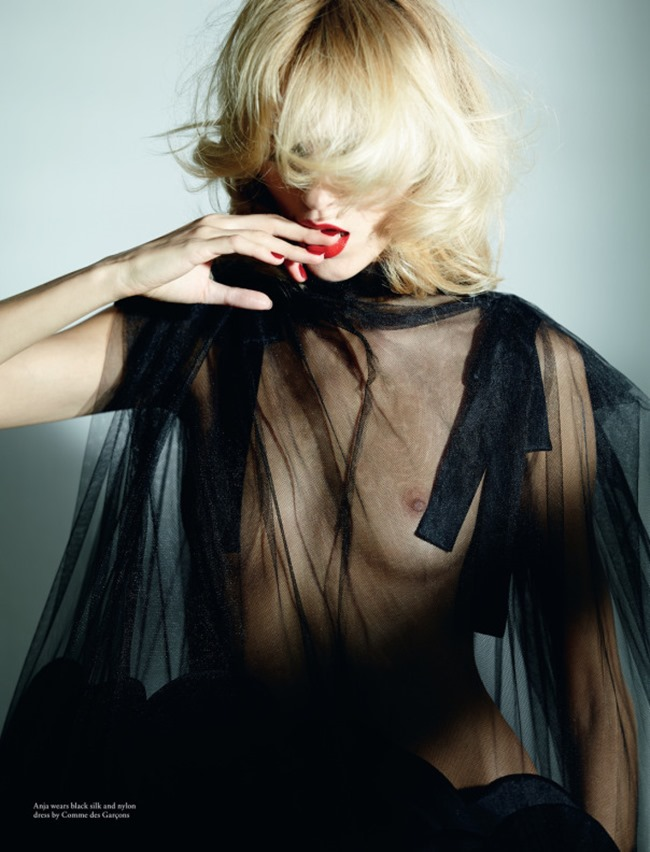 LOVE MAGAZINE Anja Rubik in Comme Des Garcons by Ezra Petronio. Jacob K, Spring 2014, www.imageamplified.com, Image Amplified (5)