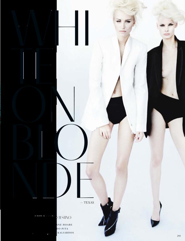 VOGUE GERMANY Irene Hiemstra Anabela Belikova, Anmari Botha & Nastya Sten in White on Blonde by Mario Testino. Sarajane Hoare, March 2014, www.imageamplified.com, Image amplified (2)