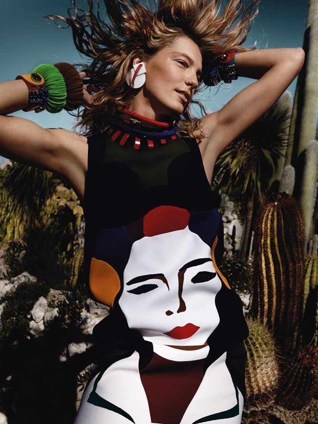 VOGUE UK Daria Werbowy in Rainbow Babes by Mario Testino. Lucinda Chambers, March 2014, www.imageamplified.com, Image Amplified (15)