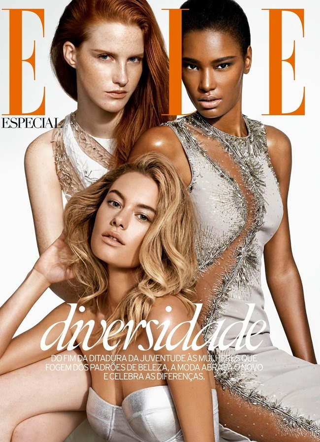 ELLE BRASIL Magdalena Jasek, Camille Rowe & Ysaunny Brito by Nicole Heiniger. William Graper, February 2014, www.imageamplified.com, Image Amplified (1)
