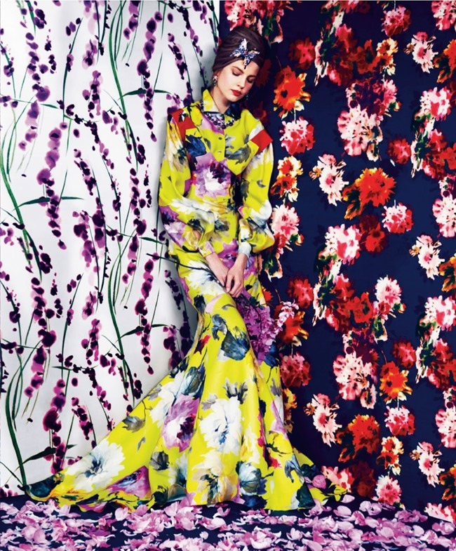 HARPER'S BAZAAR MAGAZINE Elisabeth Erm in Prints Of The Season by Erik Madigan Heck. Joanna Hillman, March 2014, www.imageamplified.com, Image Amplified (4)