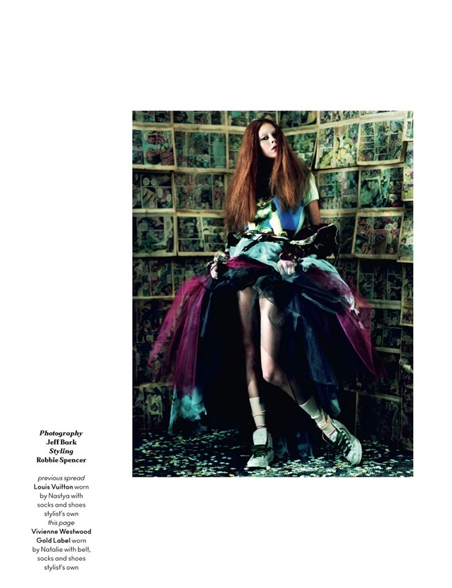 ANOTHER MAGAZINE Josephine Le Tutour, Marine Deleeuw, Nastya Sten & Natalie Westling by Jeff Bark. Robbie Spencer, Spring 2014, www.imageamplified.com, Image Amplified (3)