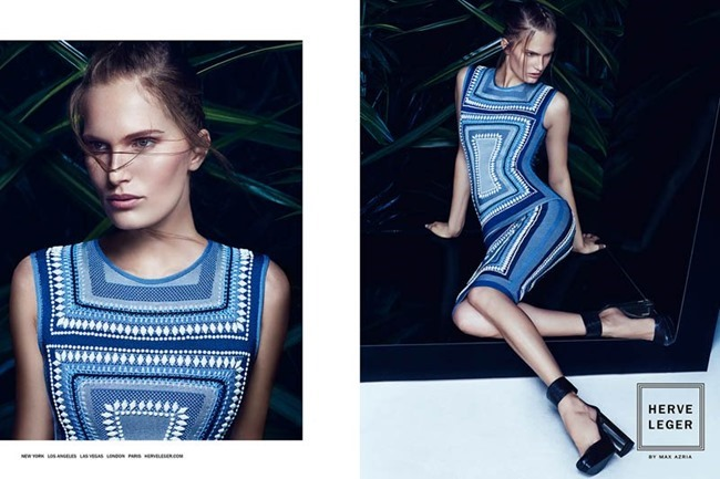 CAMPAIGN Alla Kostromichova for Herve Leger by Max Azria Sprign 2014 by Mikael Kangas. Laura Ferrara, www.imageamplified.com, Image Amplified (3)