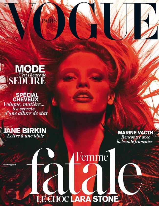 VOGUE PARIS Lara Stone, Anna Luisa Ewers & Amanda Wells in Fatale by Mert & Marcus. March 2014, www.imageamplified.com, Image amplified (2)