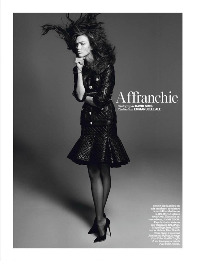 VOGUE PARIS Karlie Kloss in Affranchie by David Sims, March 2014, www.imageamplified.com, Image amplified (1)
