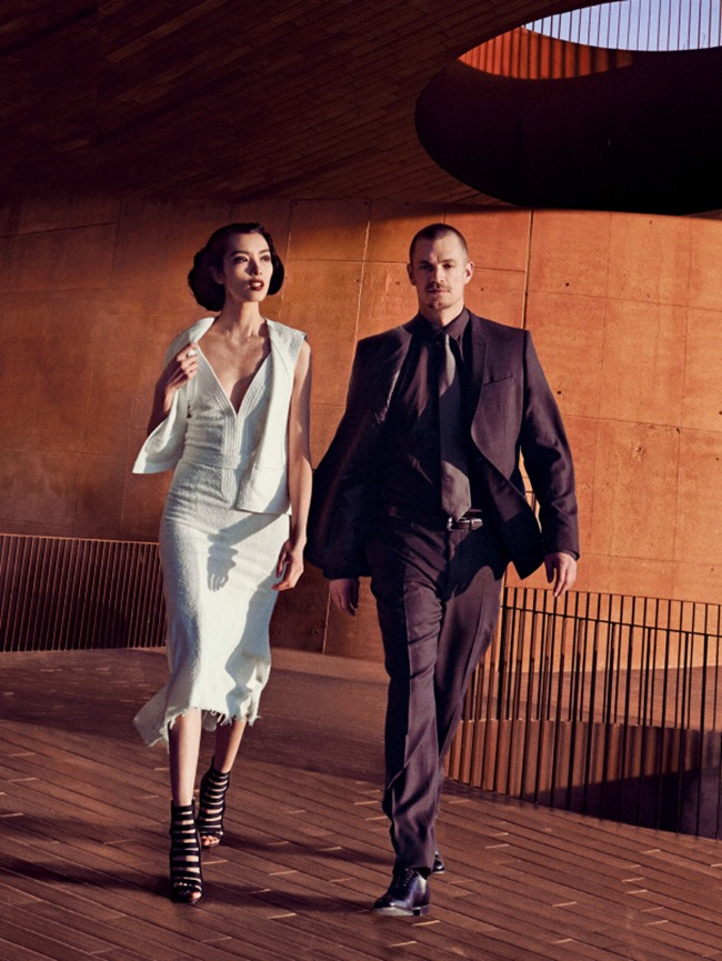VOGUE MAGAZINE Fei Fei Sun & Joel Kinnaman in The Femenine Mystique by Peter Lindbergh. Tonne Goodman, March 2014, www.imageamplified.com, Image Amplified (10)