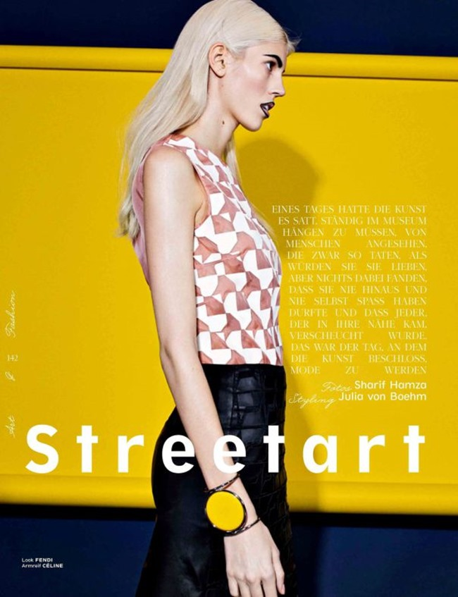 INTERVIEW GERMANY Nastya Sten, Maja Salamon & Devon Windsor in Streetart by Sharif Hamza. Julia von Boehm, March 2014, www.imageamplified.com, Image Amplified (9)