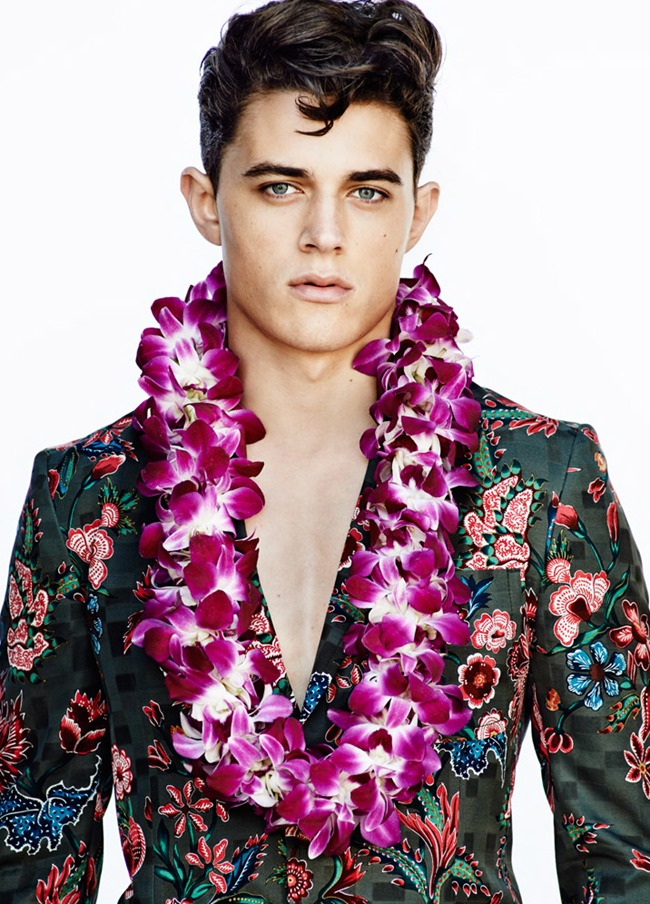 OUT MAGAZINE George Elliott in Blue Hawaii by Blair Getz Mezibov. Grant Woolhead, Spring 2014, www.imageamplified.com, Image amplified (3)