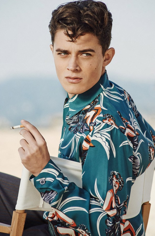 OUT MAGAZINE George Elliott in Blue Hawaii by Blair Getz Mezibov. Grant Woolhead, Spring 2014, www.imageamplified.com, Image amplified (2)
