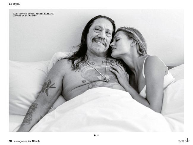 M LE MONDE Edita Vilkeviciute & Danny Trejo by Bruce Weber. Aleksandra Woronieck, March 2014, www.imageamplified.com, Image Amplified (18)