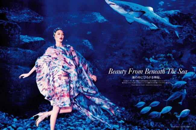 VOGUE JAPAN Chiharu Okunugi in Beauty From Beneath The Sea by Ellen von Unwerth. Elisabeth Sulcer, April 2014, www.imageamplified.com, Image Amplified (2)
