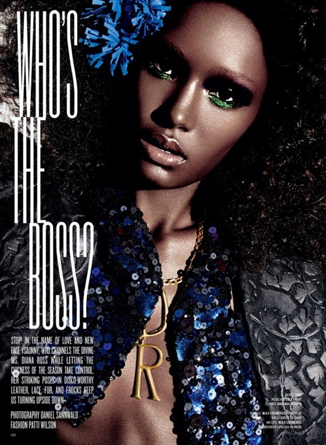 V MAGAZINE Ysaunny Brito in Who's the Boss by Daniel Sannwald. Patti Wilson, Spring 2014, www.imageamplified.com, Image Amplified (2)