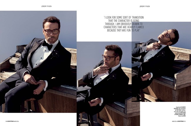 AUGUST MAN MAGAZINE Jeremy Piven in The Visceral Approach by Karl Simone. Dave Thomas, Spring 2014, www.imageamplified.com, Image Amplified (3)