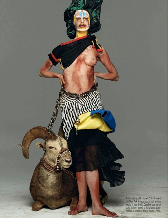 VOGUE ITALIA Saskia De Brauw in Abracadabra by Steven Meisel. Marie-Amelie Sauve, March 2014, www.imageamplified.com, Image Amplified (3)