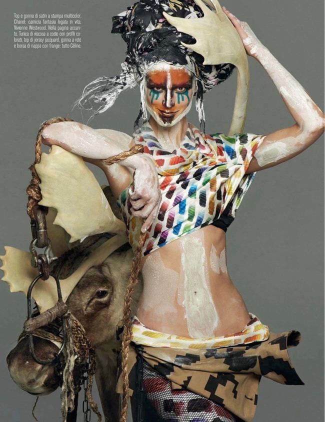VOGUE ITALIA Saskia De Brauw in Abracadabra by Steven Meisel. Marie-Amelie Sauve, March 2014, www.imageamplified.com, Image Amplified (4)