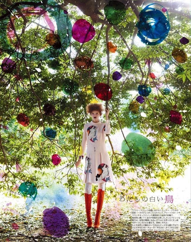 SPUR MAGAZINE Eva Klimkova & Ella Merryweather in Love Earth, Love Mode by Makoto Nakagawa. Miyuki Uesugi, April 2014, www.imageamplified.com, Image Amplified (4)