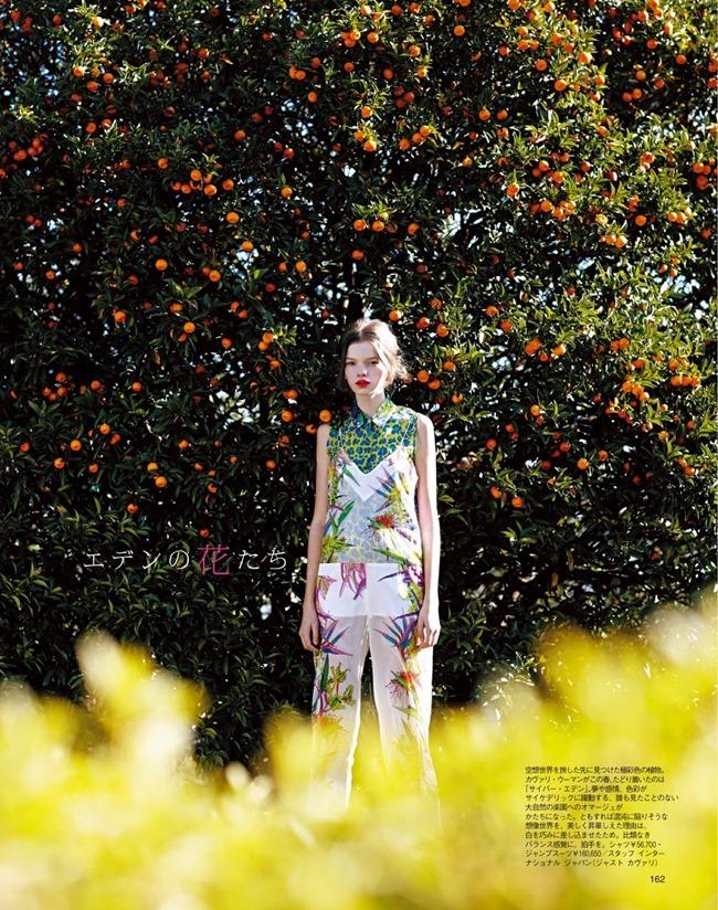 SPUR MAGAZINE Eva Klimkova & Ella Merryweather in Love Earth, Love Mode by Makoto Nakagawa. Miyuki Uesugi, April 2014, www.imageamplified.com, Image Amplified (7)