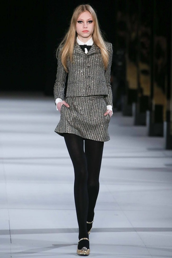 PARIS FASHION WEEK Saint Laurent RTW Fall 2014. www.imageamplified.com, Image Amplified (54)