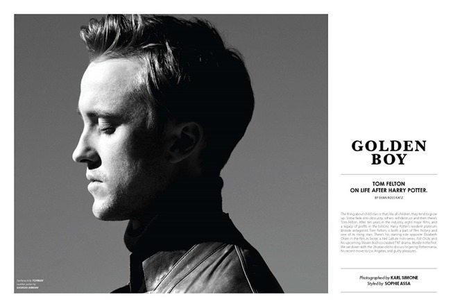 ESSENTIAL HOMME MAGAZINE Tom Felton in Golden Boy by Karl Simone. Sophie Assa, Spring 2014, www.imageamplified.com, Image Amplified (2)