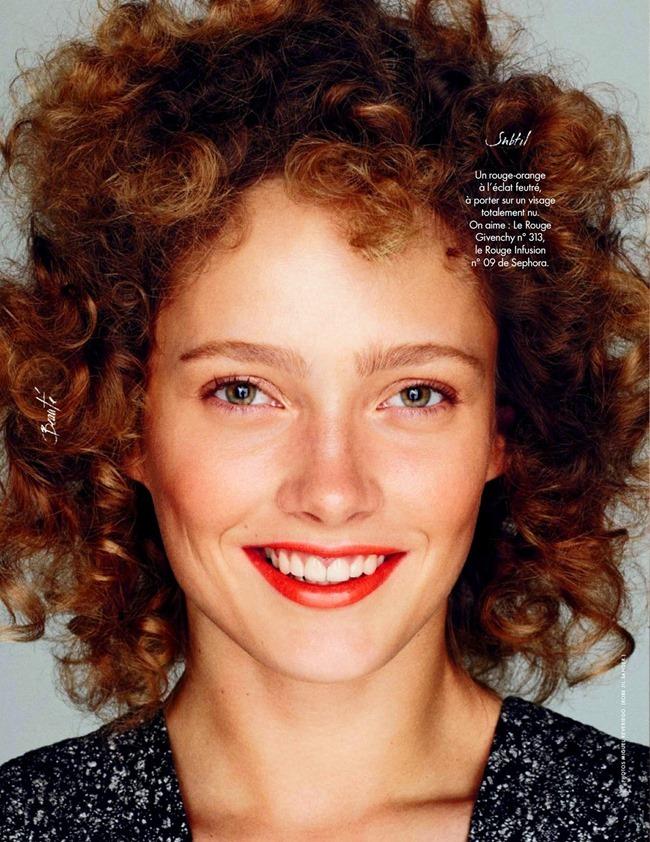 ELLE FRANCE Karmen Pedaru in Beaute by Miguel REveriego. Julie Chanut-Bombard, March 2014, www.imageamplified.com, Image Amplified (4)