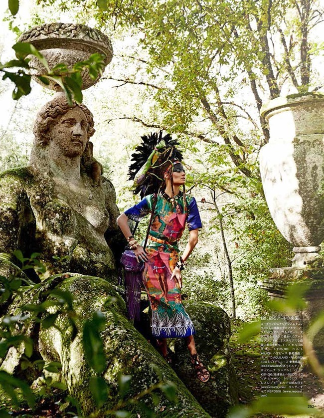 VOGUE JAPAN Magdalena Frackowiak in Ancient Songs Of Paradise by Giampaolo Sgura. Anna Dello Russo, May 2014, www.imageamplified.com, Image amplified (1)