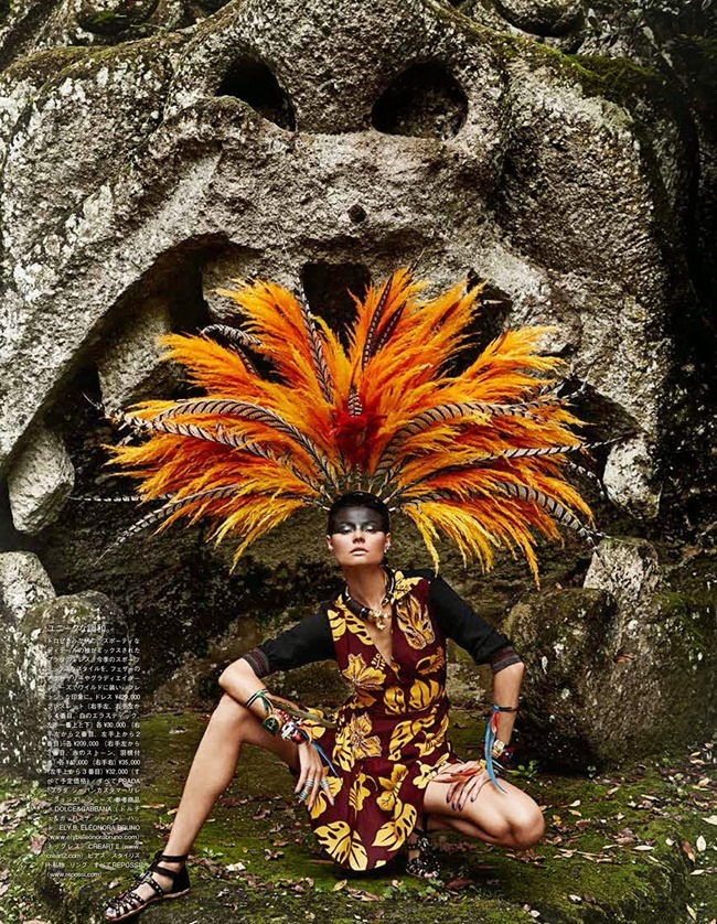 VOGUE JAPAN Magdalena Frackowiak in Ancient Songs Of Paradise by Giampaolo Sgura. Anna Dello Russo, May 2014, www.imageamplified.com, Image amplified (3)
