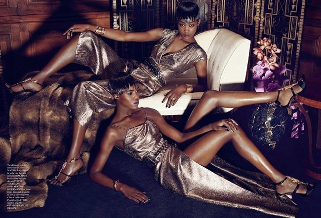 FLAIR MAGAZINE Betty Adewole & Alima Fofana in Fashion 1 by Paola Kudacki. Melanie Huynh, April 2014, www.imageamplified.com, Image amplified (7)