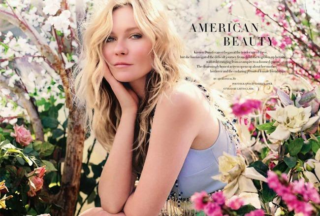 HARPER'S BAZAAR UK Kristen Dunst in American Beauty by David Slijper. Leith Clark. May 2014, www.imageamplified.com, Image Amplified (2)