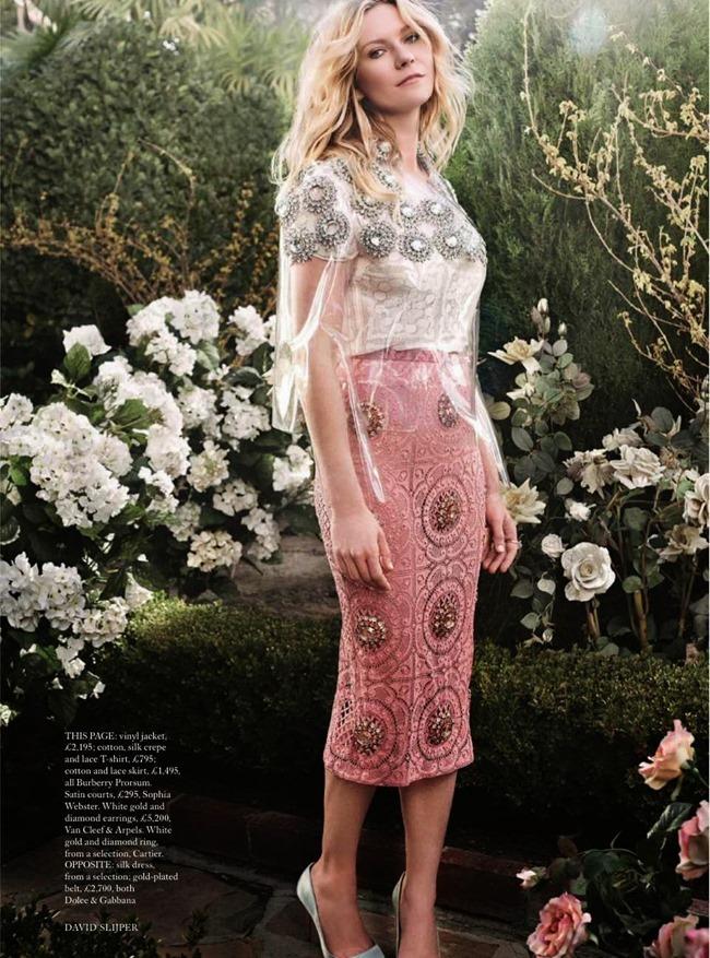 HARPER'S BAZAAR UK Kristen Dunst in American Beauty by David Slijper. Leith Clark. May 2014, www.imageamplified.com, Image Amplified (5)