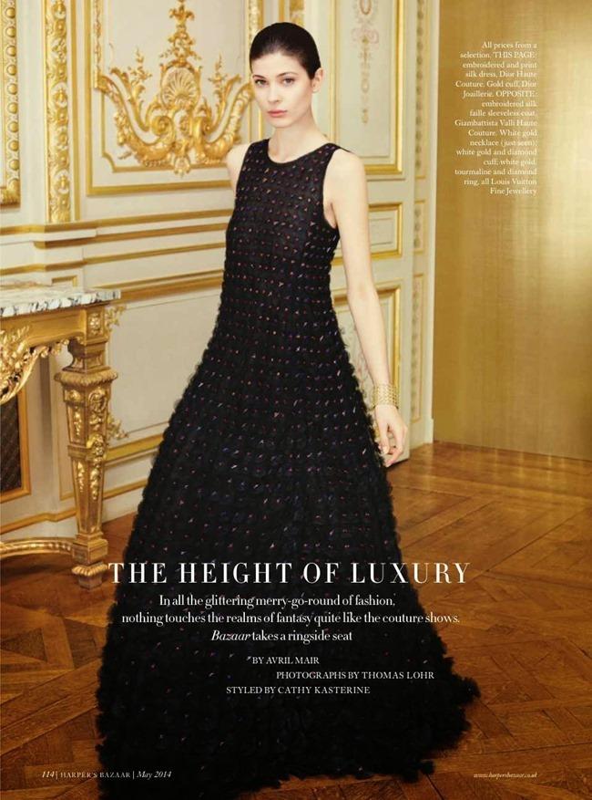 HARPER'S BAZAAR UK Larissa Hofmann in The Height Of Luxury by Thomas Lohr. Cathy Kasterine, May 2014, www.imageamplified.com, Image Amplified (7)