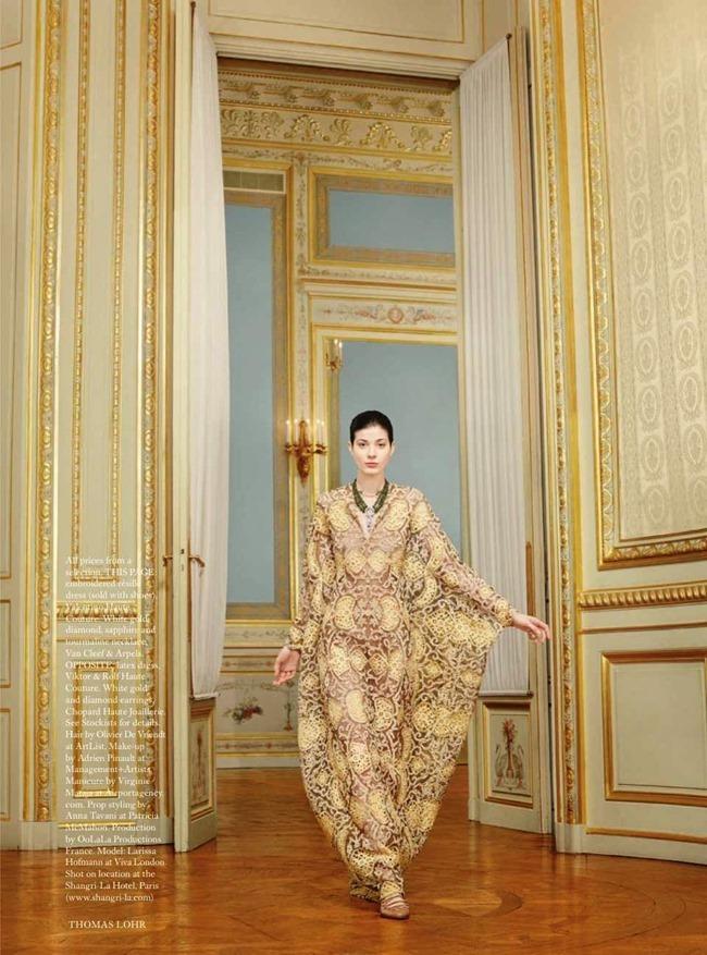 HARPER'S BAZAAR UK Larissa Hofmann in The Height Of Luxury by Thomas Lohr. Cathy Kasterine, May 2014, www.imageamplified.com, Image Amplified (1)