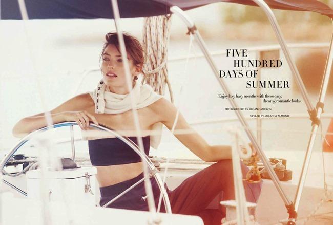 HARPER'S BAZAAR UK Marikka Juhler in Five Hundred Days Of Summer by Regan Cameron. Miranda Almond, May 2014, www.imageamplified.com, Image Amplified (7)