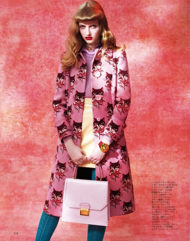 SPUR MAGAZINE Anna Konecna in Miu Miu by Marsa. Naoko Shiina, May 2014, www.imageamplified.com, Image amplified (2)