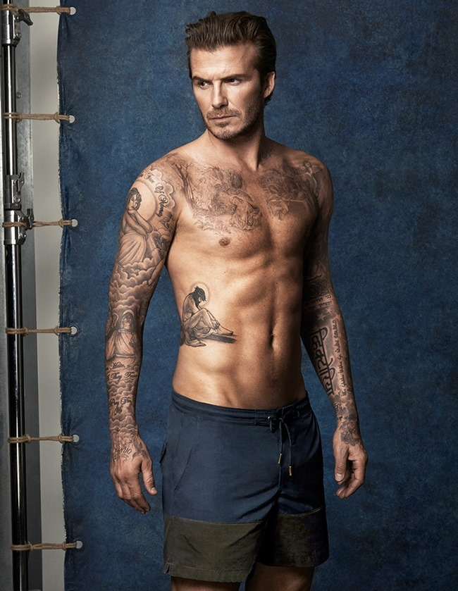 CAMPAIGN David Beckham in David Beckham Swimwear for H&M Summer 2014. www.imageamplified.com, Image Amplified (1)