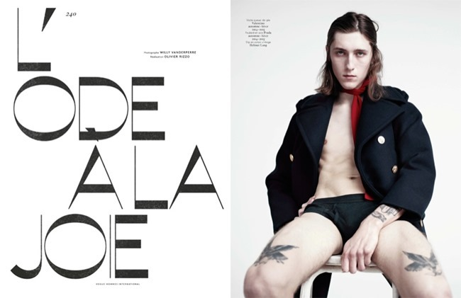 VOGUE HOMMES INTERNATIONAL L'Ode A La Joie by Willy Vanderperre. Olivier Rizzo, Spring 2014, www.imageamplified.com, Image Amplified