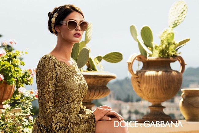 CAMPAIGN Bianca Balti for Dolce & Gabbana Eyewear Spring 2014 by Domenico Dolce. www.imageamplified.com, Image Amplified (3)