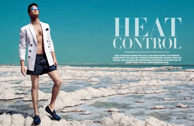 DAMAN MAGAZINE Omer Dror in Heat Control by Marcos Domingo Sanchez. Visori Fashionart, May 2014, www.imageamplified.com, Image Amplified (1)