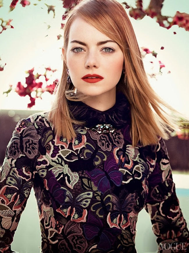 VOGUE MAGAZINE Emma Stone in The Darling by Craig McDean. Tabitha Simmons, May 2014, www.imageamplified.com, Image Amplified (4)