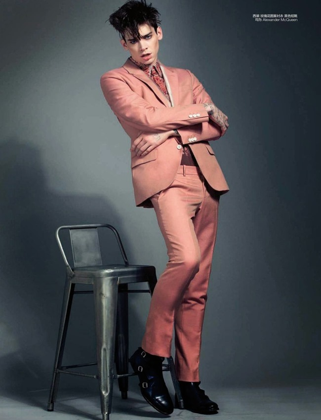 GQ CHINA Cole Mohr in Sir Mick Jagger by Olaf Wipperfurth. Spring 2014, www.imageamplified.com, Image Amplified (7)